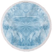 Round Beach Towel featuring the photograph Blue Serinity by Geraldine DeBoer