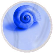 Blue Shell Round Beach Towel