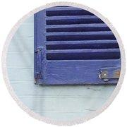 Blue Shutter Round Beach Towel