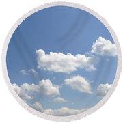 Blue Skies Round Beach Towel by M West