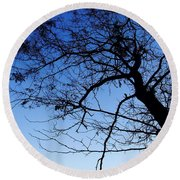 Round Beach Towel featuring the photograph Blue Sky by Andrea Anderegg