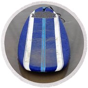 Blue Surfboard Round Beach Towel