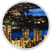 Blue Water Kitsilano Mcdix Round Beach Towel