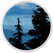 Blue Yonder Mountain Round Beach Towel