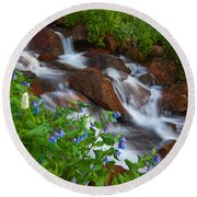 Bluebell Creek Round Beach Towel