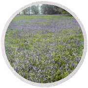 Bluebell Fields Round Beach Towel