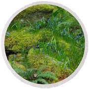 Round Beach Towel featuring the photograph Bluebells  by Marilyn Wilson