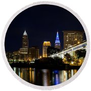 Blues In Cleveland Ohio Round Beach Towel