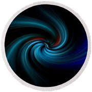 Blues Swirl Round Beach Towel