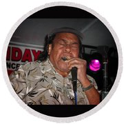 Round Beach Towel featuring the photograph Bluesman James Cotton by Mike Martin