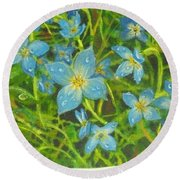 Bluets Of The Shenandoah  Round Beach Towel