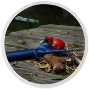 Blured Memories 02 Round Beach Towel by Peter Piatt