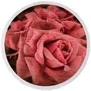 Round Beach Towel featuring the photograph Blush by Wallaroo Images