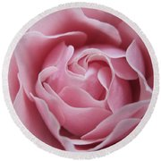 Blushing Lavender Rose Round Beach Towel
