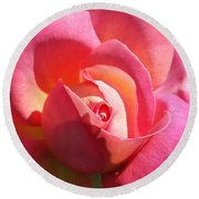 Blushing Rose Round Beach Towel by Michele Myers