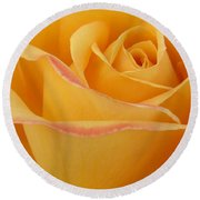 Blushing Yellow Rose Round Beach Towel