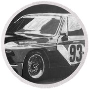 Bmw 3.0 Csl Alexander Calder Art Car Round Beach Towel