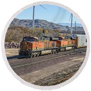 Bnsf 7454 Round Beach Towel