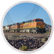 Bnsf 7649 Round Beach Towel