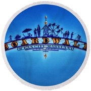 Boardwalk Arch In Ocean City Round Beach Towel