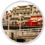 Boardwalk Bakery Walt Disney World Round Beach Towel