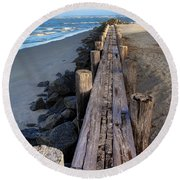 Boardwalk - Charleston Sc Round Beach Towel