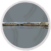 Boardwalk Panorama Walt Disney World Round Beach Towel