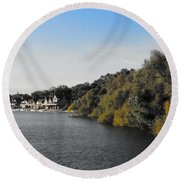 Boathouse II Round Beach Towel by Photographic Arts And Design Studio