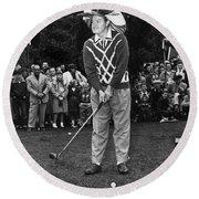 Bob Hope At Bing Crosby National Pro-am Golf Championship  Pebble Beach Circa 1955 Round Beach Towel