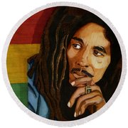 Bob Marley Legend Round Beach Towel