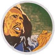 Bob Marley Round Beach Towel