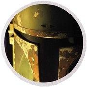 Boba Fett Helmet 124 Round Beach Towel