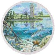 Boca Chita In0026 Round Beach Towel by Carey Chen