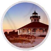 Boca Grande Lighthouse - Florida Round Beach Towel