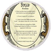 Bocce Round Beach Towel