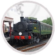 Bodiam Station Round Beach Towel