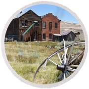 Bodie Ghost Town 3 - Old West Round Beach Towel