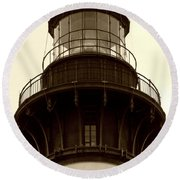 Round Beach Towel featuring the photograph Bodie Island Light Iv by Kelly Nowak