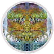 Round Beach Towel featuring the digital art Bogomil Variation 11 by Otto Rapp