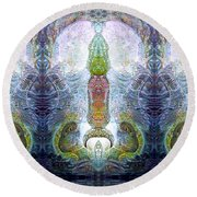 Round Beach Towel featuring the digital art Bogomil Variation 13 by Otto Rapp