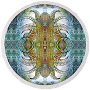 Round Beach Towel featuring the digital art Bogomil Variation 14 - Otto Rapp And Michael Wolik by Otto Rapp