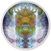 Round Beach Towel featuring the digital art Bogomil Variation 15 by Otto Rapp