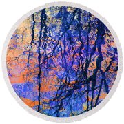 Bold Tree Reflections Round Beach Towel