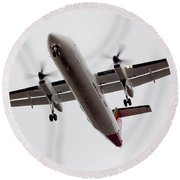 Bombardier Dhc 8 Round Beach Towel