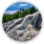 Bond Falls   Round Beach Towel