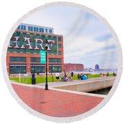 Bond Street Landing Baltimore Maryland Round Beach Towel by Vizual Studio