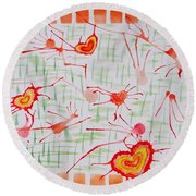 Bonds Of Love Round Beach Towel