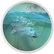Bone Fish Round Beach Towel