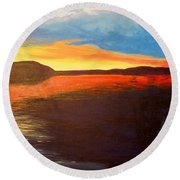 Bonnie's Lake Round Beach Towel