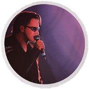 Bono U2 Round Beach Towel by Paul Meijering